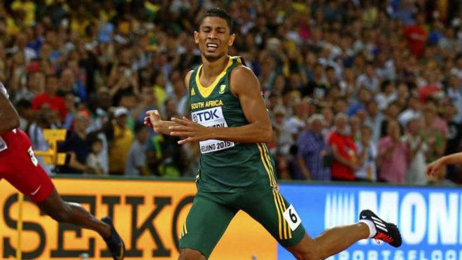 Wayde van Niekerk, durante una competición.