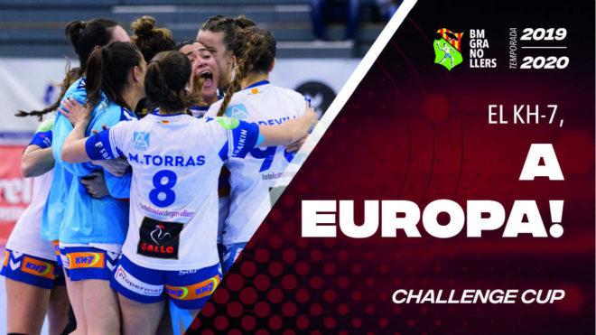 Cartel para celebrar el debut del Granollers femenino en Europa /