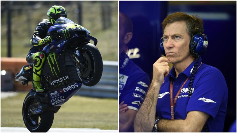 Valentino Rossi y Lin Jarvis.