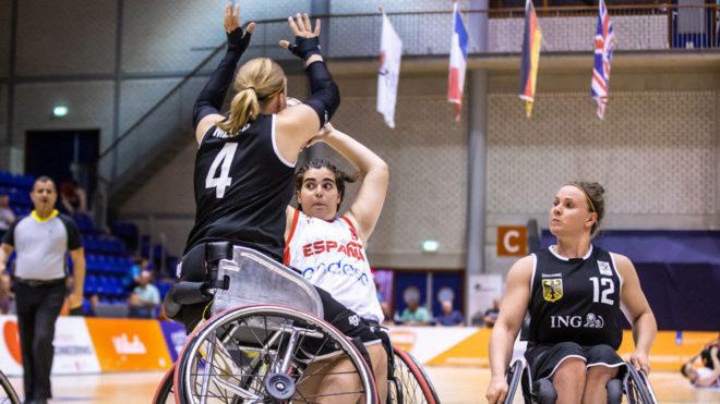 Partido entre Alemania y España del Europeo de baloncesto.