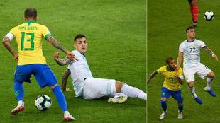 Dani Alves, ante Argentina.