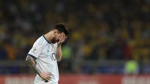 Messi, decepcionado.