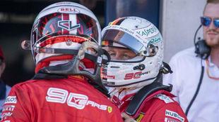 Vettel consuela a Leclerc tras el GP de Austria