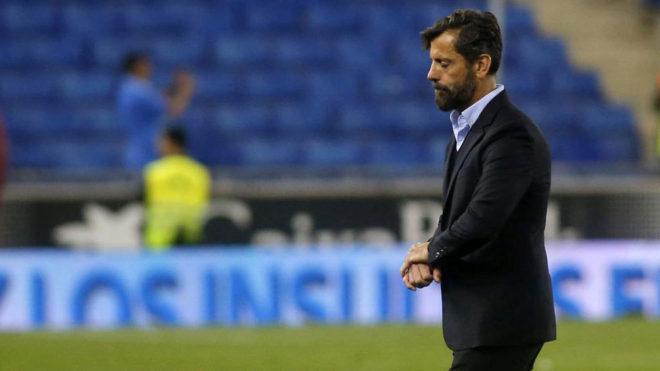 Quique Sánchez Flores, con el Espanyol.