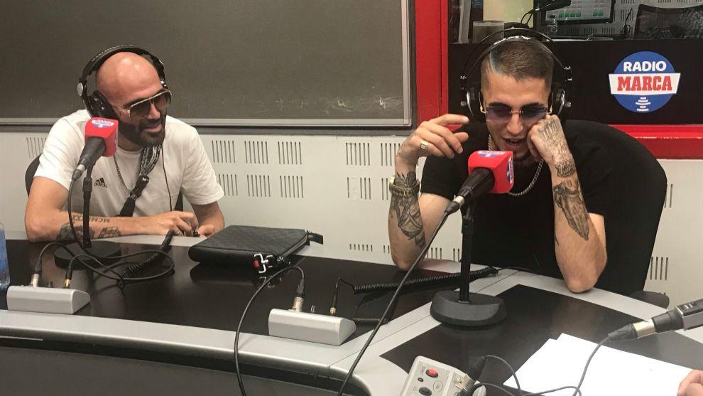 IKKI y Denom durante la entrevista en Radio MARCA