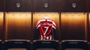 La nueva camiseta de Joao Félix en el Atlético