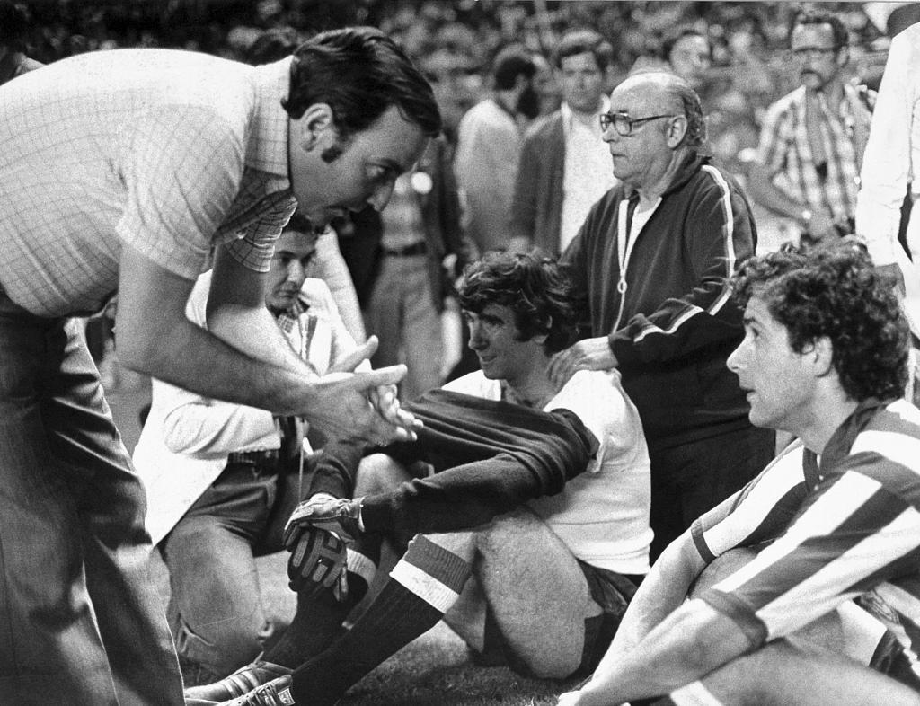 Koldo, en la final de la Copa contra el Betis en la 76-77