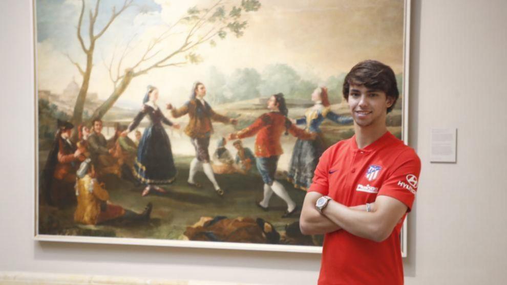 Joao Félix en el Museo del Prado