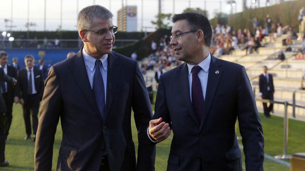 Jordi Mestre y Josep Maria Bartomeu.