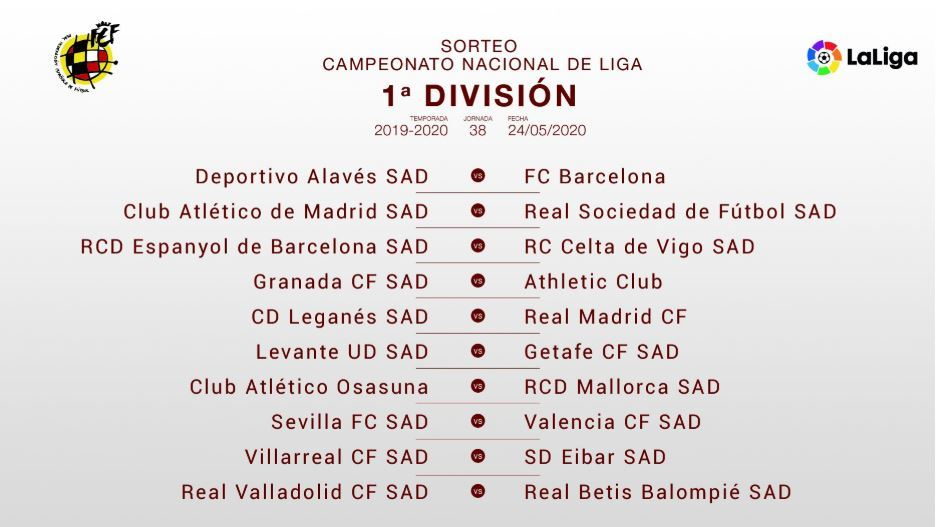 Laliga The Key Dates Of The 2019 20 Laliga Santander Fixture List Marca In English