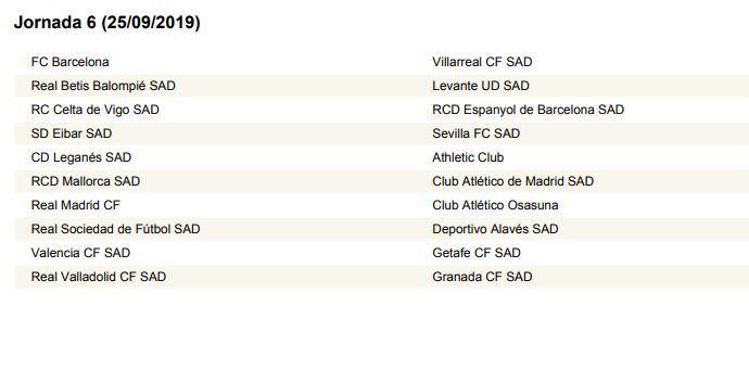 Calendario Real Madrid 2019.League Draw The Draw Of The Laliga 2019 2020 Calendar Live Sport