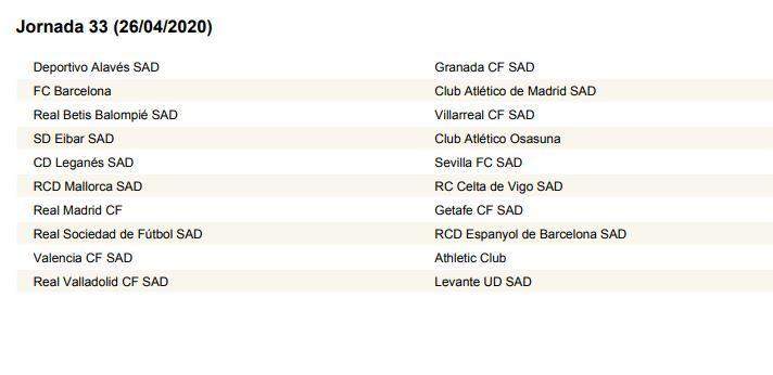 Calendario Futbol Liga Bbva 2020.Sorteo Liga El Calendario De Laliga 2019 2020 Al Completo