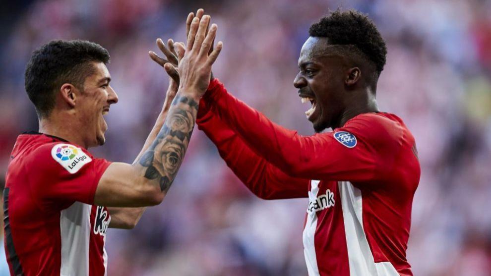 Capa y Williams celebran un gol la pasada temporada.