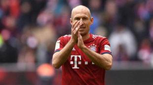 Robben, en su último partido con el Bayern.