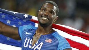 Justin Gatlin tras la final de 100 metros en Río 2016.