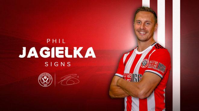 Jagielka, con la camiseta del Sheffield United.