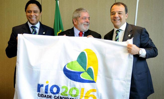 Orlando Silva (ministro de deportes), Lula y Cabral.