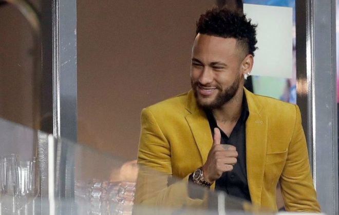 Neymar in Brazil during the Copa America.