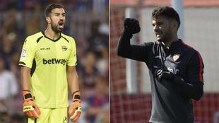 Pacheco (Alavés) y Soriano (Sevilla), en la pasada temporada