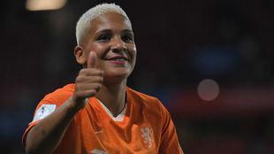 Shanice van de Sanden durante un partido del Mundial de Francia.