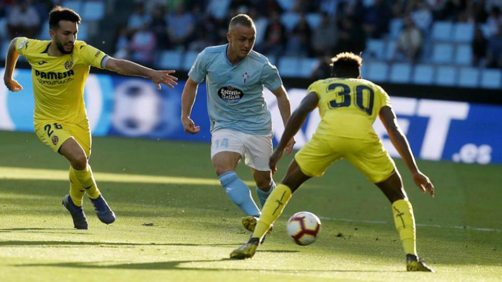 Lobotka, en un partido con el Celta la pasada temporada.