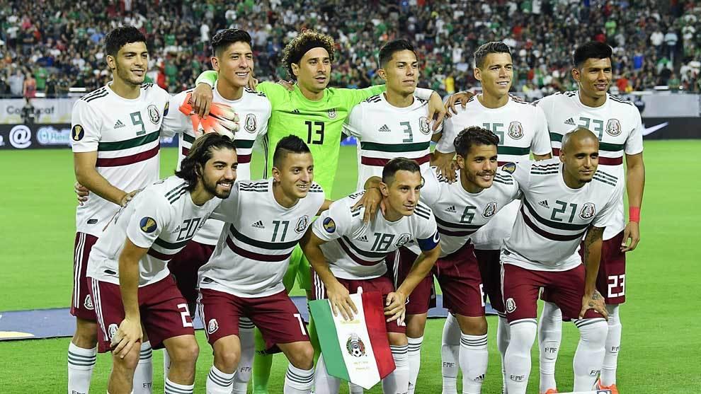 La selección mexicana antes del encuentro ante Haití