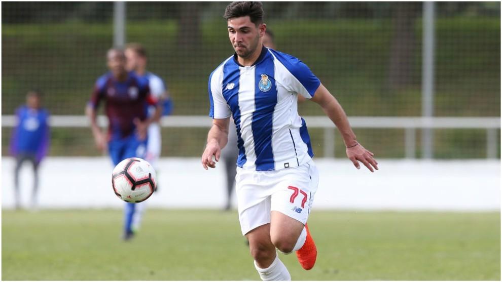 Rui Costa, en un partido con el Oporto B