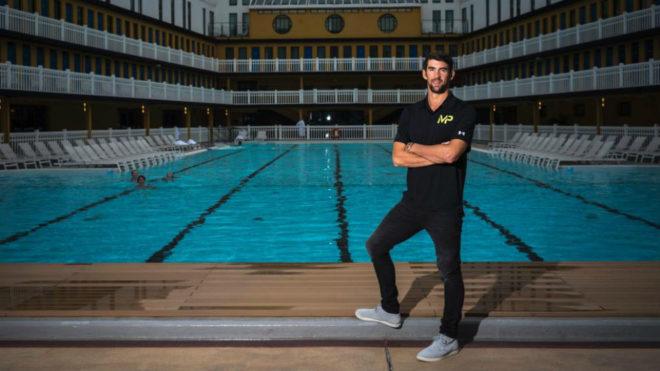 Michael Phelps, en 2017 durante una sesión de fotos.