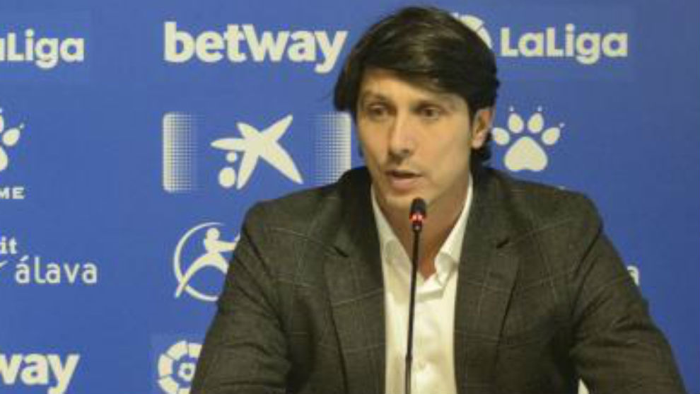 Sergio Fernández, en rueda de prensa.