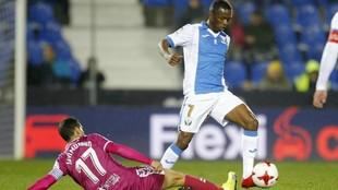 Koné, en un partido con el Leganés