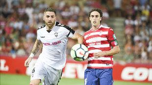 Raúl Baena, con la camiseta del Granada, en un partido contra el...