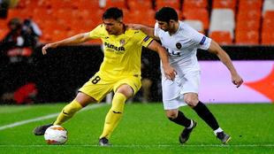Andrei Florin, en un partido con el Villarreal.