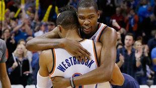 Durant y Westbrook durante su etapa juntos en Oklahoma