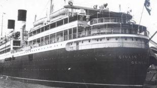 El  'Giulio Cesare', el barco en el que viajó el Madrid de Barcelona...