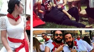 Los mozos y mozas que acuden a Pamplona para disfrutar de las Fiestas...