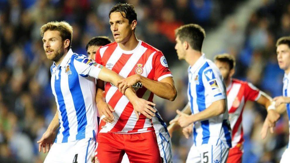 Illarramendi, en un partido de la pasada temporada contra el Girona.