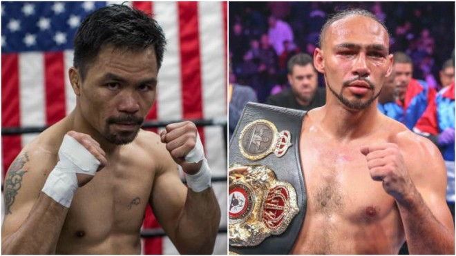 Manny Pacquiao y Keith Thurman.
