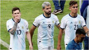 Messi, Agüero y Dybala tras el partido contra Brasil
