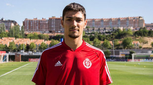 Fede Barba, en su primer día de entrenamiento con el Valladolid.