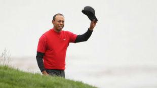 Tiger Woods, en el US Open el mes pasado.