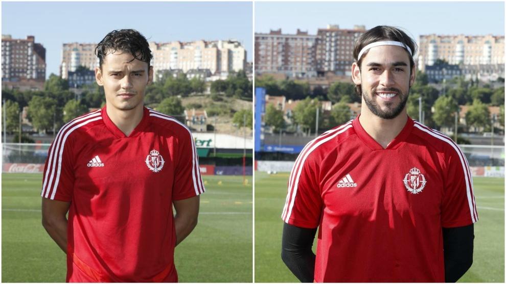 Enes Ünal y José Antonio Caro, en el entrenamiento.