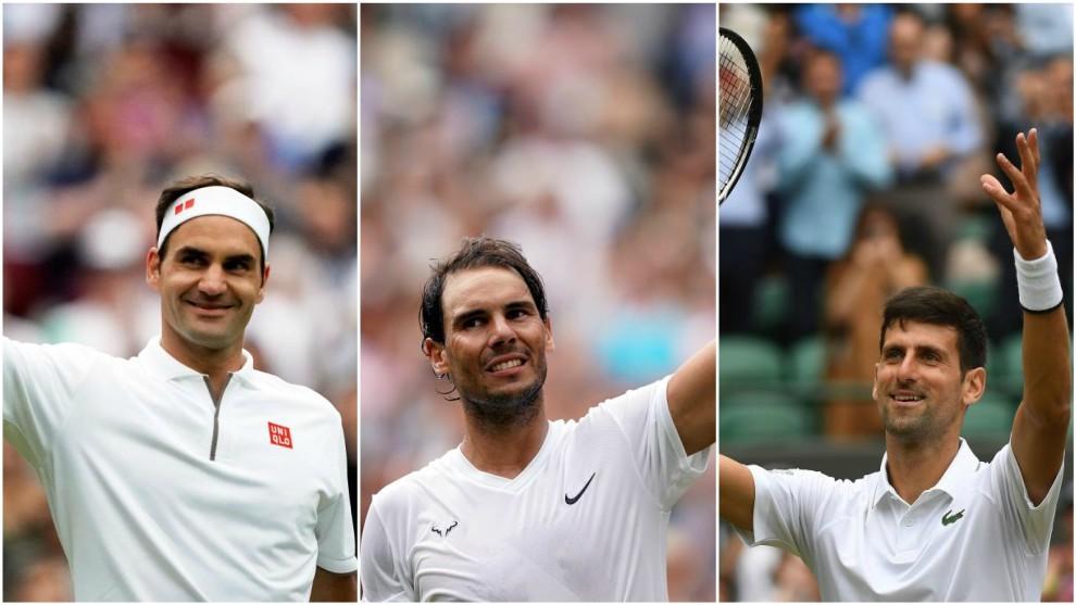 Federer, Nadal y Djokovic en Wimbledon