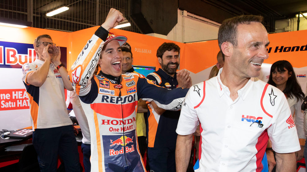 Márquez y Puig celebran el triunfo.