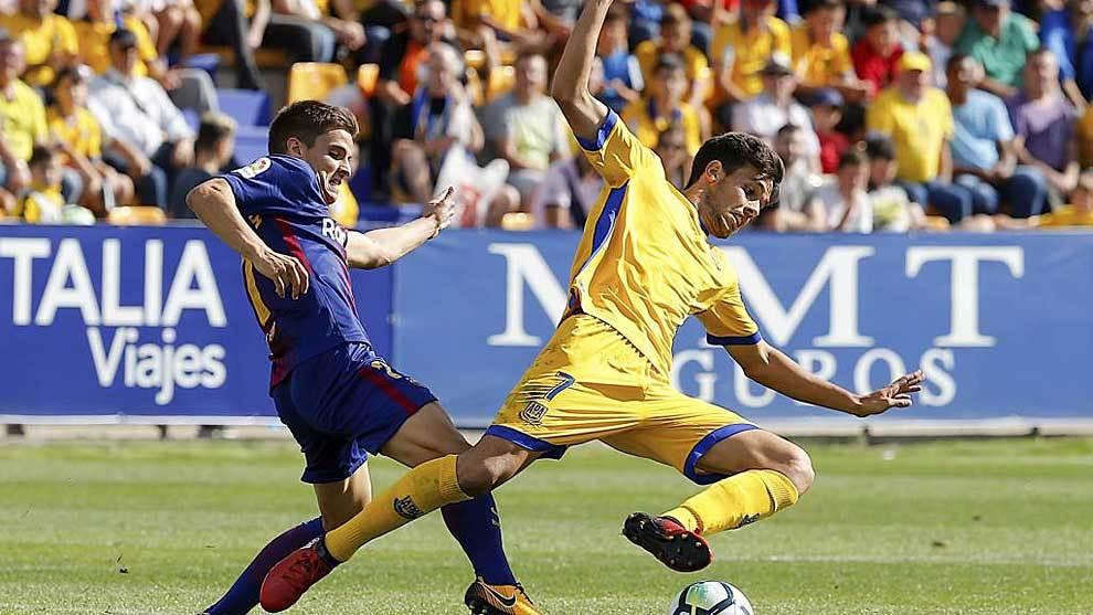 Borja Domínguez, en un partido con el Alcorcón hace dos años justo...