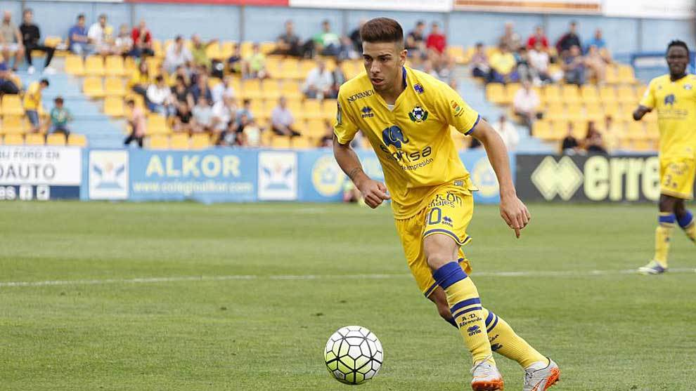 Víctor Pastrana, en su época como jugador del Alcorcón