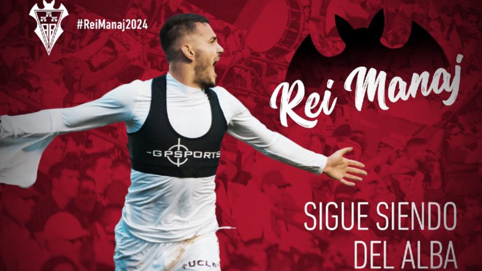 El Albacete anuncia la renovación de Rei Manaj