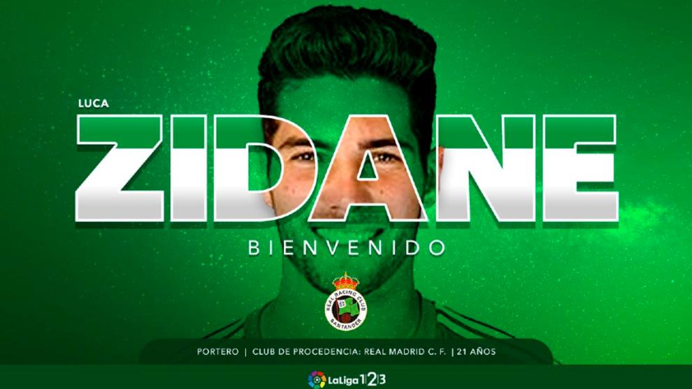 El Racing da la bienvenida a Luca Zidane