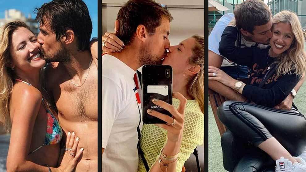 La famosa modelo Stephanie Demner y el tenista argentino Guido Pella...