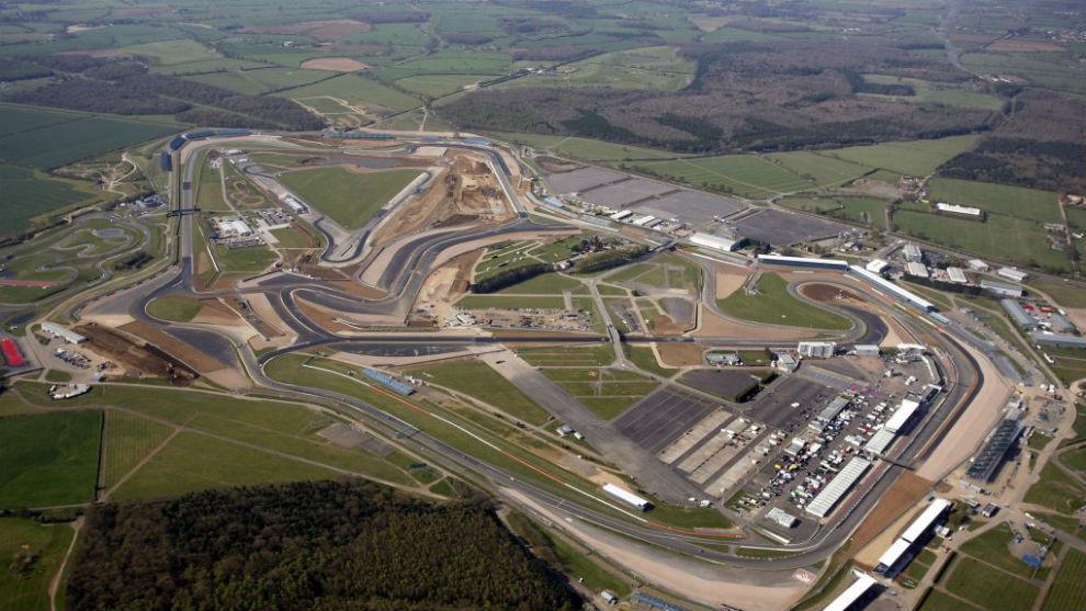 Imagen aérea del circuito de Silverstone.