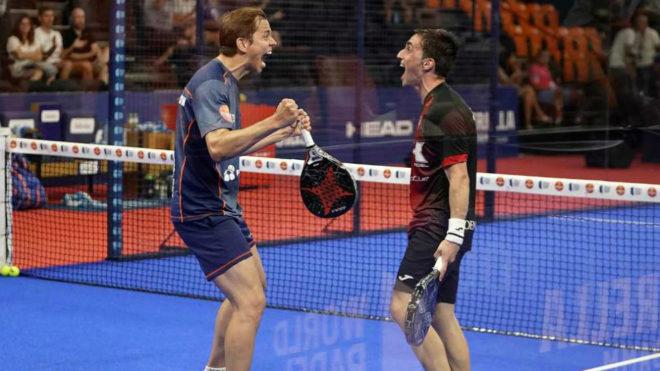 Marcello Jardim y Denis Perino celebran su sonada victoria en...
